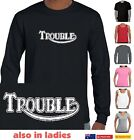 Funny T-Shirts Trouble Triumph parody Motorbikes Mens tee Women's t shirt Sizes $22.95 AUD on eBay