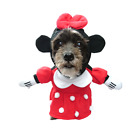 Pet Dog Mickey Minnie Mouse Hooded Coat Jumpsuit Fancy Dress Costume Apparel