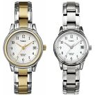 Dress Watch | Stainless Steel Bracelet & Case White Dial | Womens Timex Indiglo