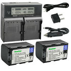 Kastar Battery LCD Dual Fast Charger for JVC SSL-JVC50 & JVC GY-HM650 Camcorder