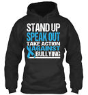 Stand Up Against Bullying - Speak Out Take Action Bequemer Kapuzenpullover, gebraucht gebraucht kaufen  Versand nach Germany