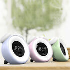 Alarm Clock LED Night Light For Kids PIR Sensor Touchscreen Control Bedside Lamp