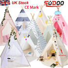 Kids Teepee wigwam childrens play tent childs garden indoor toy 100% Canvas