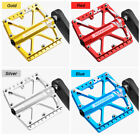 "ROCKBROS Bicycle Pedals Flat/Platform Three Bearing Pedals 9/16"" For MTB BMX DH"
