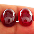 Lab Created Ruby With Visible Inclusions Oval Cabochon Loose Stone (12x10-30x20)