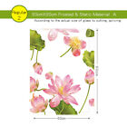 Decorative Privacy Glass Window Film Window Stickers Stained Static Cling Lotus