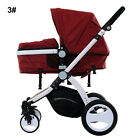 Luxury Baby Toddler Pram Stroller Foldable Buggy Jogger With-Bassinet