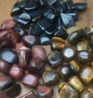NATURAL POLISHED TIGER EYE CRYSTAL TUMBLESTONES - Blue/Gold/Red/Tiger's Eye
