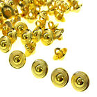 """100/200 1/2"""" Gold Buttons Plastic Round Buttons Fit Sewing Craft Scrapbook 13mm"""