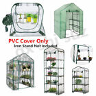 Walk-In Plant Greenhouse Outdoor Garden  PVC Cover Green Shed Storage Apex Roof