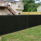 4' 5' 6' FT Black Privacy Fence Screen Cover Mesh Garden Yard Home Commercial