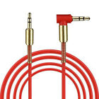 Audio Cable 3.5mm Male to Male Car Aux 90 Degree Cord Right Angle For Phone MP4