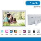 """15"""" Inch Electronic Music/MP4/Movie Player LED Digital Photo Picture Frame 16:9"""