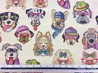 New World Tapestry Dogs Fabric Material *3 Sizes*