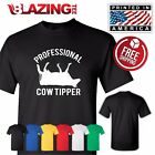 PRO COW TIPPER TIPPING FUNNY DAIRY FARM REDNECK T-SHIRT Gift Fun Tee Sm - 3XLg