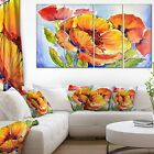 Designart Bouquet of Full Blown Poppies Floral on Canvas Art Wall Photgraphy