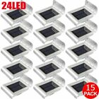 1-20X 24LED Solar Power PIR Motion Sensor Wall Light Outdoor Garden Shed Lamp MX