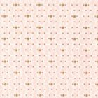 Aquamarine - Cubes - Powder Apricot & Metallic Gold - 100% Cotton Fabric Modern