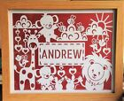 Personalised Christening, Naming Day,Baptism,New Baby, Nursery, Gift, Papercut