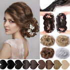 40 hair extensions - 100% Real Natural Curly Messy Bun Hair Piece Scrunchie US Fake Hair Extensions