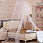 3 Colors Net Lace Mosquito Round Canopy Netting Dome Princess Curtain Bedding image