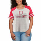 Ohio State Buckeyes Women's Heathered Gray/Scarlet Plus Size Pitch Perfect