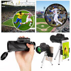 US 40X60 Magnification Monocular HD Telescope Camera Lens + Mount Kits For Phone