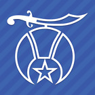 Shriner Symbol Vinyl Decal Sticker Freemason