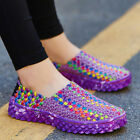 Summer Women Men Casual Woven Shoes Breathable Soft Large Size Sneaker Shoes