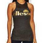Ellesse Sport Nerrivik Womens Ladies Fitness Training Sleeveless Vest Black/Gold