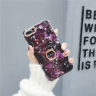 Ring Holder Stone Marble Pattern Shockproof Case For iPhone 6/6S Plus X Classic