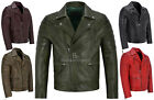Men's Real Leather Jacket Lambskin Napa New Fashion Biker Motorcycle Style 3205