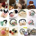 Charm Women Girls Hair Ties Multi-Types Flowers Pearls Hair Band Ponytail Holder