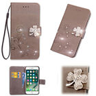 For Samsung Galaxy S9/S8+/S7 handmade bling Leather Flip slots Wallet case cover