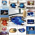 3D Sky Planet Galaxy Floor/Wall Stickers Removable Home Decor Mural Art Decal
