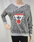 Womens Adidas Basketball Leo Black/Grey Sweatshirt RRP £39.99 (.TGA6)