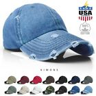 Vintage Distressed 100% Cotton Solid Polo Denim Baseball Cap Hat Ball Dad Washed $11.99 USD on eBay