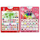 US Baby Kids Animals Fruit Sound Wall Chart Read Card Book Early Educational Toy
