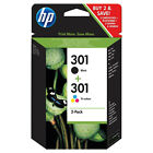 Genuine HP 301 Combo / 301XL Black & Colour Ink Cartridges *Choose your ink*