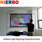 """72"""" 16:9 Ambient Light Rejecting Projector Screen Portable PVC HD Home Film DIY $9.19 USD on eBay"""