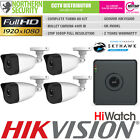 Hiwatch 2MP 1/2/3/4 TVI/AHD/CVI BNC Camera Home CCTV Kit Bundle Security System