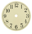 "Round Ivory Metal Clock Dial - Arabic - Choose from 4-1/2"", 6"", 6-3/4"" or 7-7/8"""