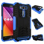 2 in1 Kickstand Rugged Hybrid Heavy Duty Grip Case Cover For Asus Zenfone Phone