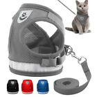Cat Walking Jacket Harness and Leash Pets Puppy Kitten Clothes Adjustable Vest