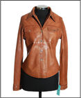 Yvonne Tan Ladies New Casual Real Soft Lambskin (Grade 1) Leather Shirt Jacket