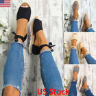 ladies shoes - Womens Ladies Lace Up Flat Espadrilles Sandals Holiday Summer Chunky Shoes Size