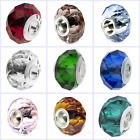 925 Sterling Silver Faceted Crystal Birthstone Bead for European Charm Bracelet
