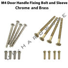 M4 Bolt & Sleeve Chrome / Brass Snap-off screw connecting for handle roses knobs