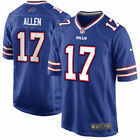 Buffalo Bills 17 Josh Allen Blue and White Jersey