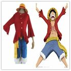 One Piece Monkey D Luffy 2years Later Cosplay Costume TOP Pants Straw Hat